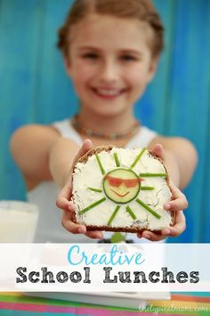 Creative School Lunch Ideas that are EASY to do and make lunch Fun for kids. Many different ideas to incorporate veggies into their lunches too. ad