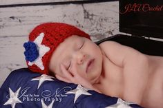 Patriotic Pair (hat and diaper cover)  - free 4th of July crochet patterns