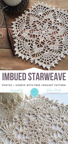 Mesmerizing Afghan Crochet Ideas Crochet Afghans Easy Imbued Starweave Free Crochet Pattern – Imbued Starweave is classic and beautiful – this doily showcases the essence of intricate openwork. Star-like center and fans create lovely structured pattern, Vintage Crochet Doily Pattern, Crochet Thread Patterns, Crochet Table Runner Pattern, Free Crochet Doily Patterns, Crochet Doilies, Free Pattern, Crochet Coaster Pattern, Vest Pattern, Afghan Patterns