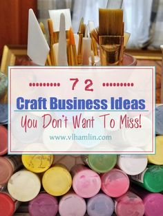 Are you looking for some ways to boost your income and help get you out of the rat race? Here's a list of 72 craft business ideas that are sure to get your creative juices flowing! Crafts To Make And Sell, Crafts For Kids, Arts And Crafts, Craft Projects, Sewing Projects, Craft Ideas, Craft Tutorials, Sewing To Sell, Diy Upcycling