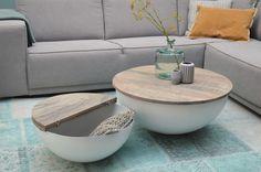 DESIGN Couchtisch Mango Holz Sophie metall rund Beistelltisch Halbkugel 80x35cm | Möbel & Wohnen, Möbel, Tische | eBay!