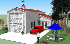 Bradley Mighty Steel RV Garage for sale, RV Shelter pricing Rv Garage Plans, Garage Plans With Loft, Barn Garage, Garage Ideas, Shed Floor Plans, Barn House Plans, Barn Plans, Rv Storage, Built In Storage