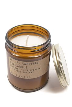 Imagine roasting marshmallows over a dreamy campfire with this smokey scented candle!  www.mooreaseal.com