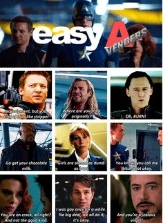 The Easy A-vengers - this is perfection. Man alive...