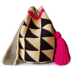 Special Edition Wayuu Bag 400 96 Yoga Mat Bag, Handmade Shop, Knit Crochet, Crochet Bags, Little Gifts, Fair Trade, Women Empowerment, Bucket Bag, Purses And Bags