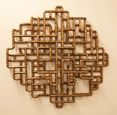Sculptural Copper Tubing Furniture and Art by TJ Volonis. Pinned to Garden Design - Sculpture & Art by Darin Bradbury. Wall Sculptures, Sculpture Art, Copper Art, Copper Decor, Copper Tubing, Pipe Furniture, Medieval Art, Cool Walls, Decor Interior Design