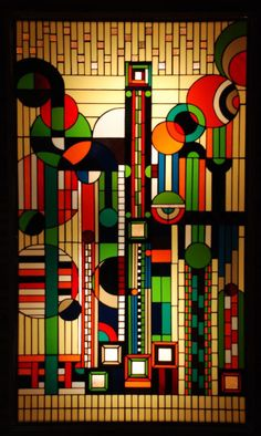 wasbella102:  stained glass by Frank Lloyd Wright