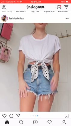 Different ways to style a plain T-shirt, Diy Abschnitt, Teen Fashion Outfits, Mode Outfits, 2000s Fashion, Ladies Fashion, Boho Fashion, Style Fashion, Cute Casual Outfits, Chic Outfits, Casual Shorts