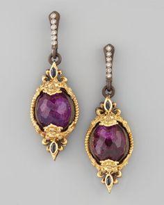Mini Sugilite Drop Earrings by Armenta at Neiman Marcus.   $2445