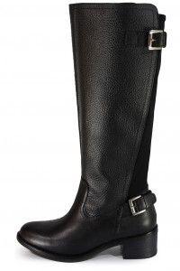 Andrea leather boots http://n-fashion.pl/buty-damskie/andrea-kozaki-skorzane-czarne-z-paskami