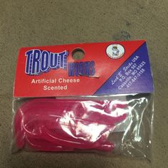 TROUT WORMS HOT PINK 5 CT  PLASTIC GREAT FOR TROUT #LUCKYSTRIKE