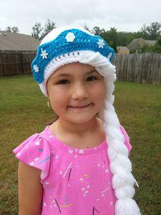 Frozen Elsa hat with crown by JennieSawyersDesigns on Etsy