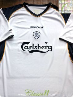 f71f79afc Relive Liverpool s 2001 2002 season with this vintage Reebok away football… Liverpool  Fc Shirt