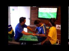 """Sordociegas """"ver"""" el juego de la copa: Brasil y Croacia!"""