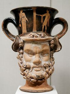Terracotta Attic Red-Figure Kantharos in the Form of the Heads of a Satyr and a Woman Attributed to the Aison and the Spetia Class of Head Vases, 420 BCE Ancient Greek Sculpture, Ancient Greek Art, Ancient Greece, Ancient Names, Greek History, Ancient History, Art History, European History, Greek Pottery