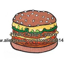 Meu Hamburger bordado Ferro -on patch de Sticker, Produtos Alimentícios Tecido Jacket Badges , Kids DIY Pano Acessórios(China (Mainland))