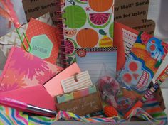 Brights Edition: Planner and Snail Mail Kit by ASprinkleOfLovely on Etsy