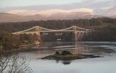 Suspension Bridge over Menai Strait, Anglesey Island, Wales (UK)