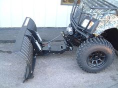 This heavy-duty UTV and ATV snow plow kit is an easy installation on all American SportWorks Landmaster utility vehicles using the ASW front hitch receiver.  Once it is wired, then installing and removing the plow is a simple drive-in/drive-out process.  Just slide the mount into the hitch receiver, install the locking pin, plug in the wiring harness, and you are ready to plow snow!