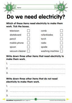 Curriculum Visions electricity science worksheet for readers. Free Printable Math Worksheets, Science Worksheets, Reading Worksheets, Ks2 Science, Science Lessons, Teaching Science, Basic Electrical Engineering, Ks1 Classroom, States Of Matter Worksheet