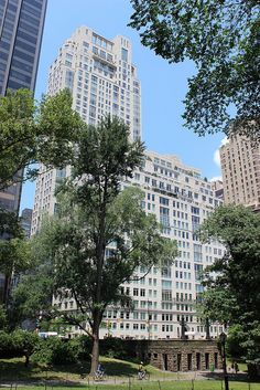 15 Central Park West from the park.
