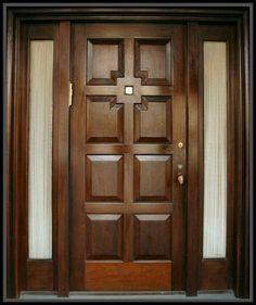Ideas for wooden glass door design window Wooden Glass Door, Wooden Front Door Design, Wooden Doors, Wooden Windows, Glass Doors, Wood Cabinet Doors, Wood Entry Doors, Entrance Doors, Oak Doors