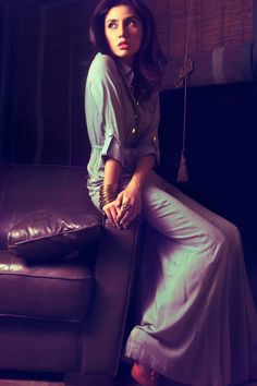 Mahira Khan for Feeha Jamshed - Casual maxi dress love it!