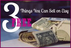 I've always wanted my own Etsy shop & I got super excited when I found out I can actually sell things I find in my yard! LOL  Here are 3 cool free things you can sell on Etsy.