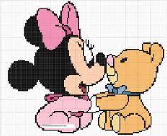 Disney Minnie Mouse x-stitch