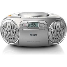 The Philips CD Soundmachine with Dynamic Bass Boost is a portable CD and cassette player, featuring dynamic bass boost for that rich and superb sound. Listen to all your favourite tunes from your CDs or cassette tapes – all experienced in quality audio.