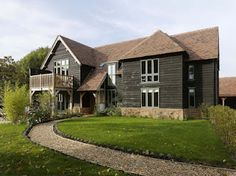 This Border Oak barn style house in West Sussex has been voted one of the 50 Great Self Builds by Homebuilding & Renovating Magazine - gorgeous!