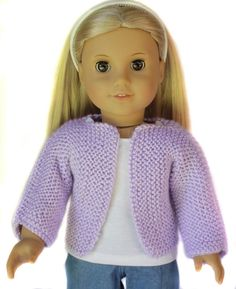 Beginner Knit Sweater for 18 inch Dolls Knitting pattern by Doll Tag Clothing Teach your little girl to knit! Knitting pattern for beginners - Knit this Sweater for your Soft body girl do. Knitting Dolls Clothes, Crochet Doll Clothes, Doll Clothes Patterns, Girl Doll Clothes, Girl Dolls, Dress Patterns, Knitted Doll Patterns, Sweater Knitting Patterns, Knitted Dolls