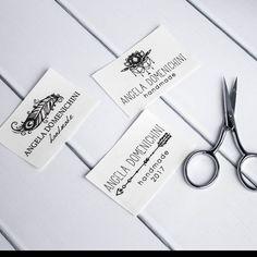 cotton labels cotton tags personalized label printed fabric Personalized Labels, Custom Labels, Tag Design, Label Design, Iron On Labels, Fabric Labels, Fabric Yarn, Delicate Wash, Printing Labels