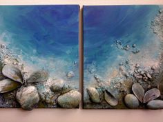 Seashells Art Original Abstract Modern by COLORSofmyeARTh on Etsy