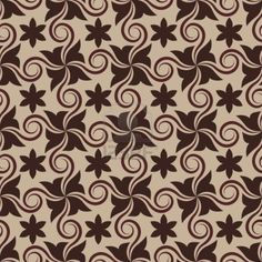 Illustration of Abstract brown seamless pattern with curls vector art, clipart and stock vectors. Textile Pattern Design, Batik Pattern, Textile Patterns, Free Pattern, Vintage Typography, Vintage Logos, Islamic Patterns, Japanese Patterns, Vector Design