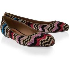 🎉Host Pic 🎉 Missoni Ballet Flats Missoni lurex pattern in multicolor, slightly metallic.  Lured/leather trim upper with leather piping detail, leather lining, lightly padded footbed and rubber sole. Heel measures 1cm, platform measures: 0.5.  Original retail price is $495.  In good used condition. Dust bag included. Hard to find flat. Colors include: purple, pink, black, red, blue, tan. Made in Italy. Missoni Shoes Flats & Loafers