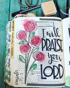 Bible Journaling Isaiah Praise Him Art Journaling, Bible Journaling For Beginners, Bible Study Journal, Scripture Journal, Book Journal, Bible Drawing, Bible Doodling, Scripture Art, Bible Art