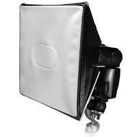 A light-weight flash modifier you can stuff into a large camera bag.