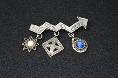 Vintage Native American Lightning Brooch with Charms, Southwestern  Brooch, Crooked Arrow Lightning Engraved Silver Tone Pin by FabulousVintageStore on Etsy