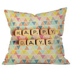 Happy Days Pillow