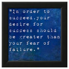 Art.com Framed Wall Poster Print Inspirational Quote By Bill Cosby - Blue