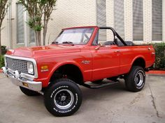 If I were a vehicle I'd be a 1972 CHEVY BLAZER. Able to climb steep hills, breezy and have room for my kiddos. :)
