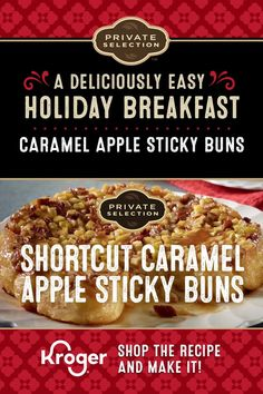 Caramel Apple Sticky Buns Sticky buns like you've never had before! Topped with warm sea salt caramel and perfectly baked apples and pecans, these sticky treats are an absolute dream. Breakfast Time, Breakfast Recipes, Dessert Recipes, Breakfast Ideas, Apple Desserts, Breakfast Casserole, Apple Recipes, Muffin Recipes, Dessert Ideas