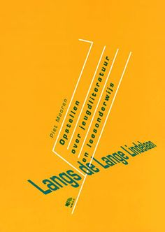 Piet Mooren: 'Langs de Lange Lindelaan - Opstellen over jeugdliteratuur en leesonderwijs' - Uitgegeven in 1998 door NBLC Uitgeverij (NBD/Biblion) - ISBN 9054831693 - Ontwerp boekomslag: Erik Cox