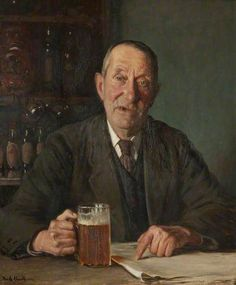 Man with a Pint, 1932 - Frederick William Elwell (British,1870-1958) Realism: