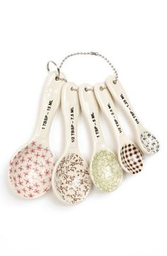 Magenta Measuring Spoons (Set of 5) available at #Nordstrom