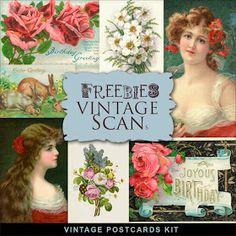 Far Far Hill: New Freebies Vintage Kit