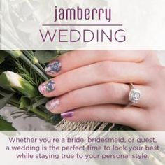 Get perfect wedding nails with out spending nail salon prices! Jamberry Wedding, Wedding Manicure, Bridal Nails, Bridal Makeup, Nail Salon Prices, Jamberry Combinations, Bridal Packages, Jamberry Nail Wraps, Get Nails