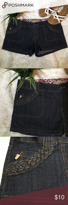 NWOT Denim Shorts Brand new without tags new without tags. I removed the tags but never wore them.  The braided detail pocket are my favorite feature. Low rise shorts. Machine Washable All items are from a smoke free home Always Same or Next Day Shipping  10% off bundles of 2 or more items ❤️ jalate Shorts Jean Shorts
