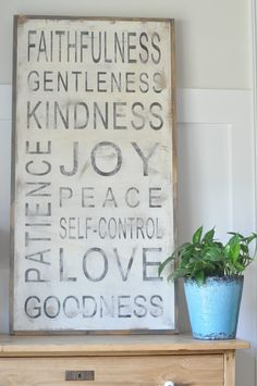 Fruit of the Spirit Sign by BetweenYouAndMeSigns on Etsy, $125.00